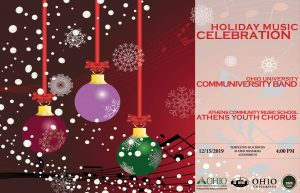 Holiday Musical Celebration flier