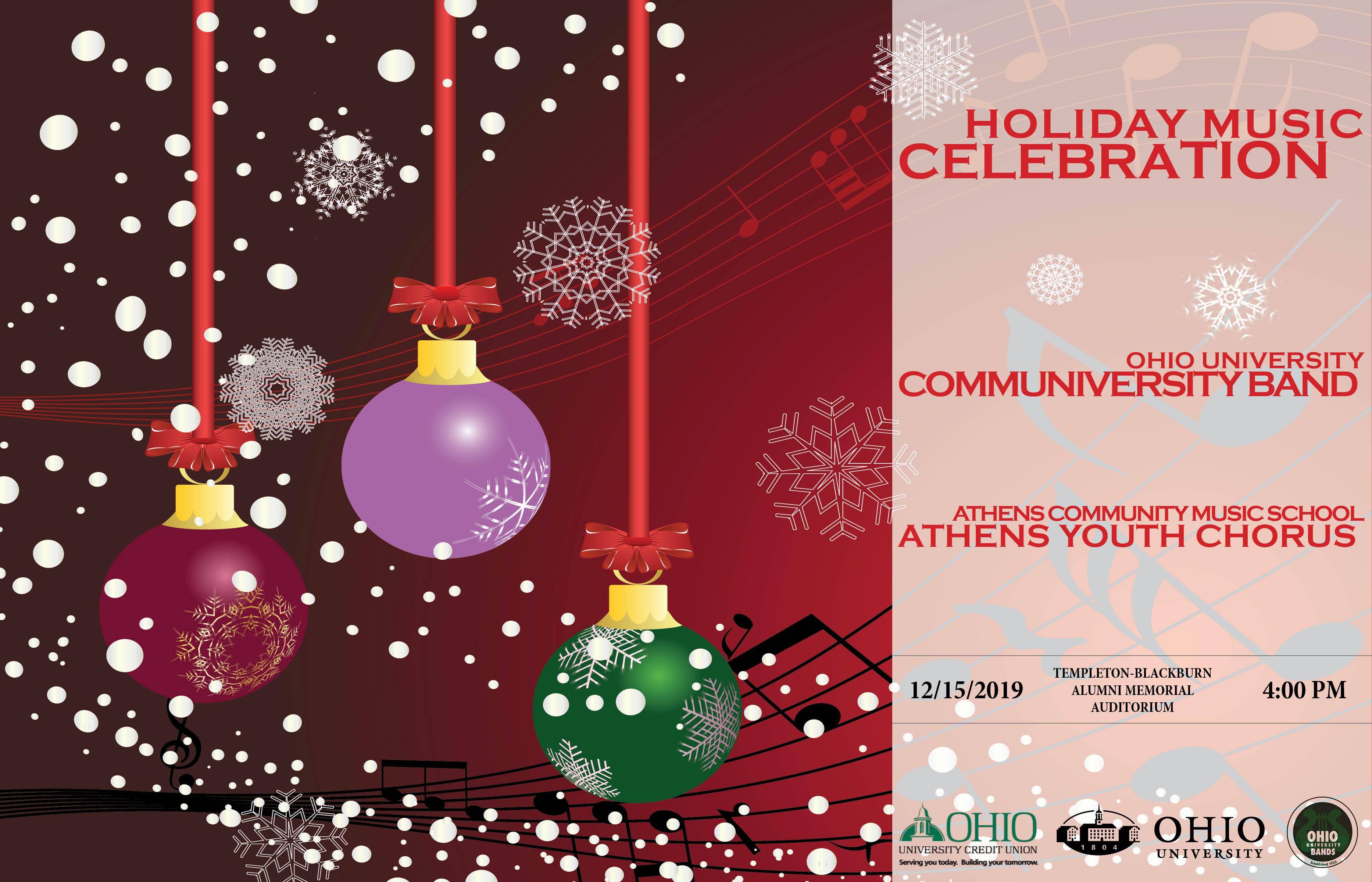 Holiday Musical Celebration flier