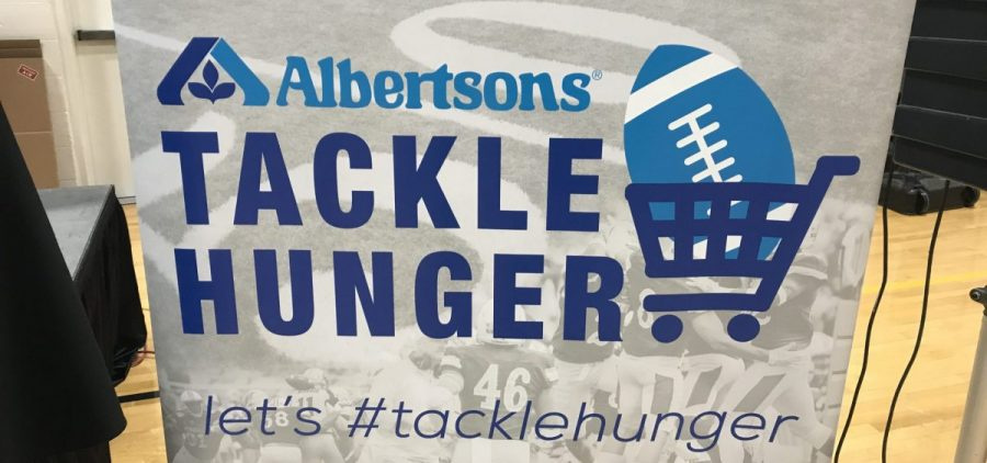 Albertsons Tackle Hunger poster