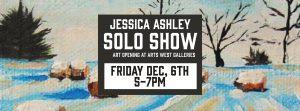 Jessica Ashley Solo Show flier