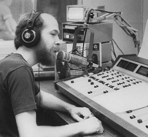 Rusty Smith operating radio board