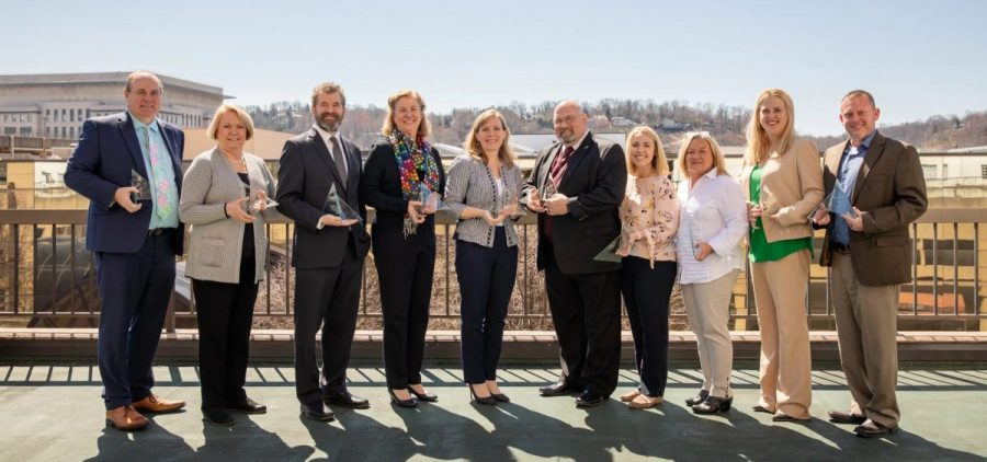 PROACT Executive Director Micheal Haney (center right) with other recipients of the Innovation Now Awards in West Virginia