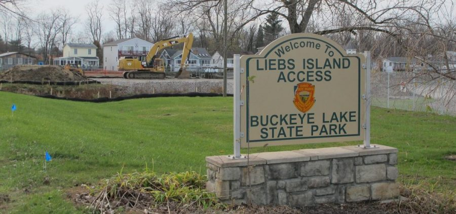 Construction began on repairs to the crumbling earthen dam at Buckeye Lake in March 2015. Water levels were lowered, which upset residents, businesses and visitors. The project ended in November 2018.
