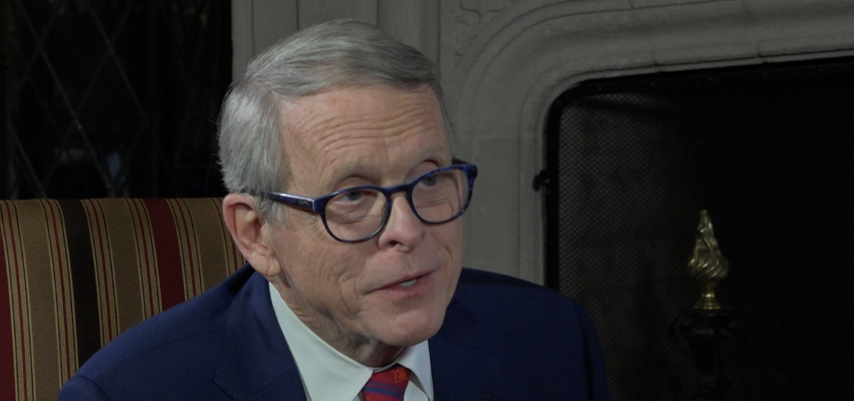 Gov. Mike DeWine, in a sit-down interview at the Governor's Residence.