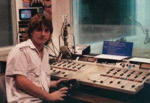 Furey in the WOUB FM studio