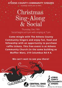 Christmas Sing Along flier