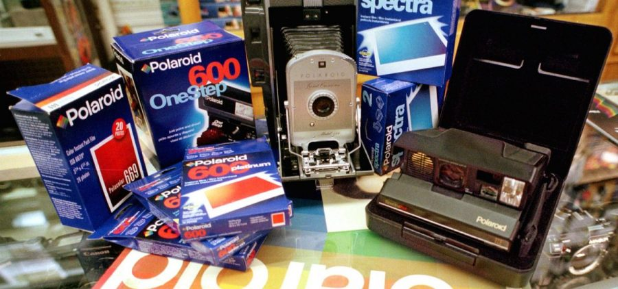 A group of Polaroid products