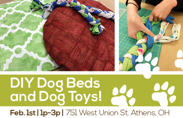 DIY Dog Beds and Dog Toys flier