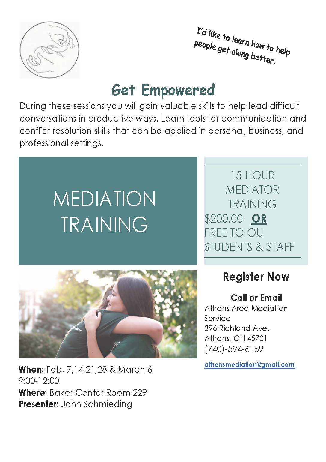 Mediation Winter 2020 Training flier