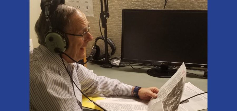 Bruce Goldberg in broadcast booth