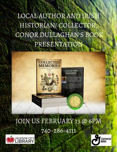 Conor Dullaghan's Book Presentation flier