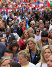 People in a charity walk