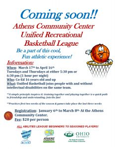 Basketball League flier