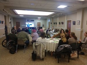 Tea party event at Muskingum Co. Library