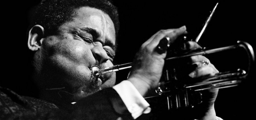 Jazz trumpeter Dizzy Gillespie performs at the Boston Globe Jazz and Blues Festival on Jan. 15, 1966. Bob Daugherty/AP