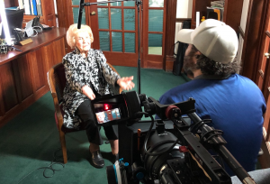 Evan Shaw interviewing Marianne Campbell