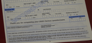 A 2020 Census Form