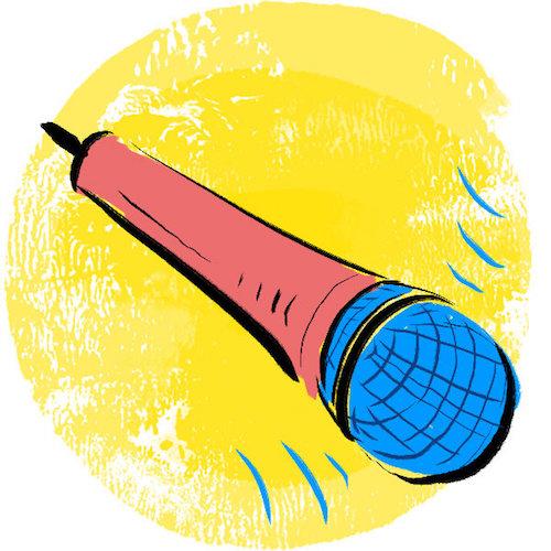 clip art of microphone