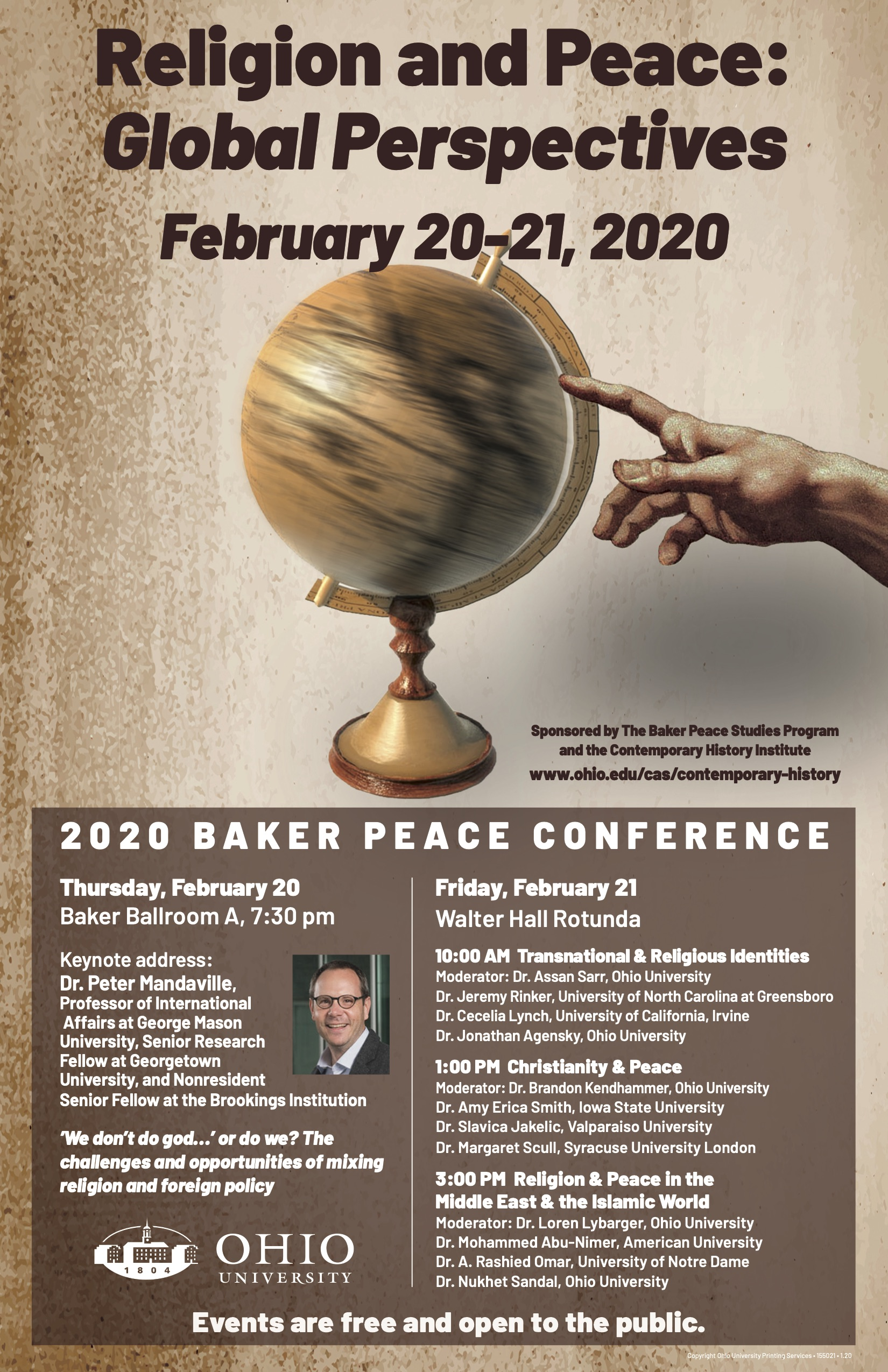 Religion and Peace: Global Perspectives flier