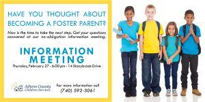 Foster Parent Information Meeting flier