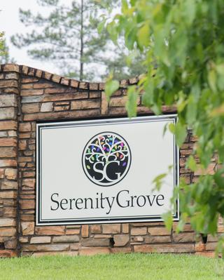 Serenity Grove sign