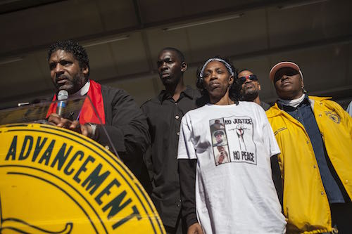 group at NAACP rally