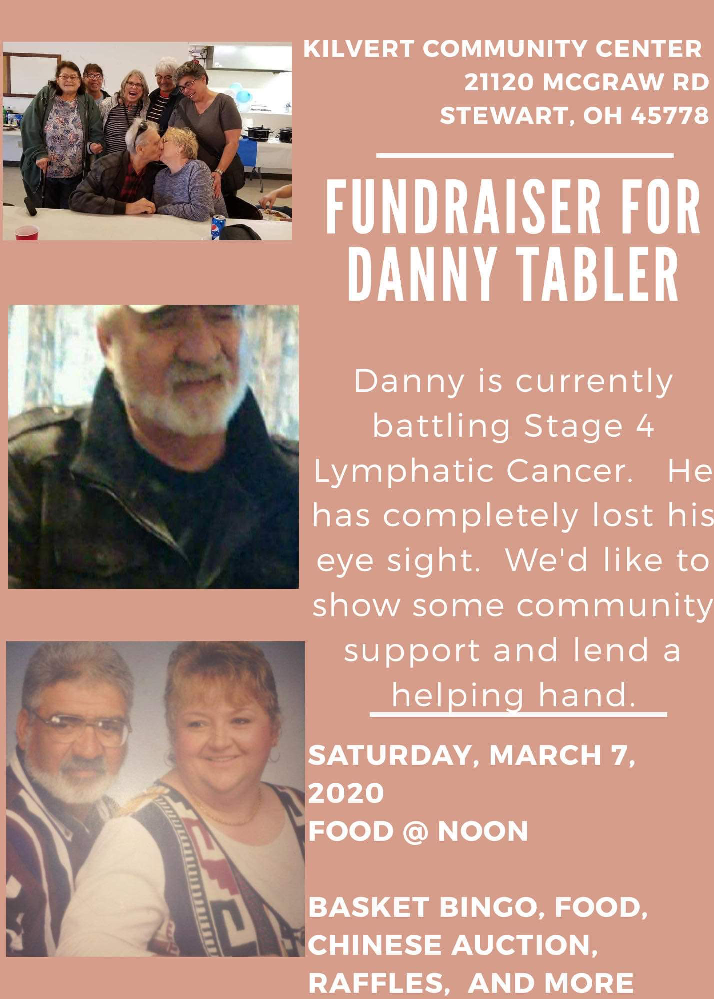 Danny Tabler Fundraiser flier