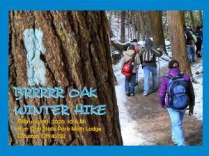 BRRRRR Oak Winter Hike flier