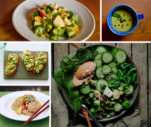 A collage of healthy food
