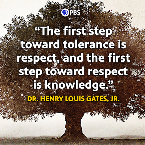 The first step toward tolerance is respect, and the first step towards respect is knowlwdge. Henry Louis Gates