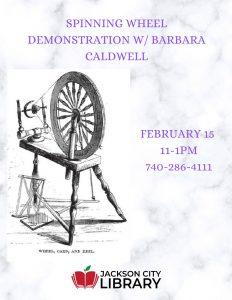 Spinning Wheel Demonstration flier