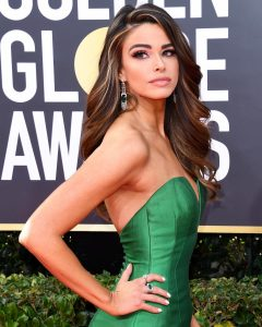 Jennifer Lahmers on the red carpet at the Golden Globes