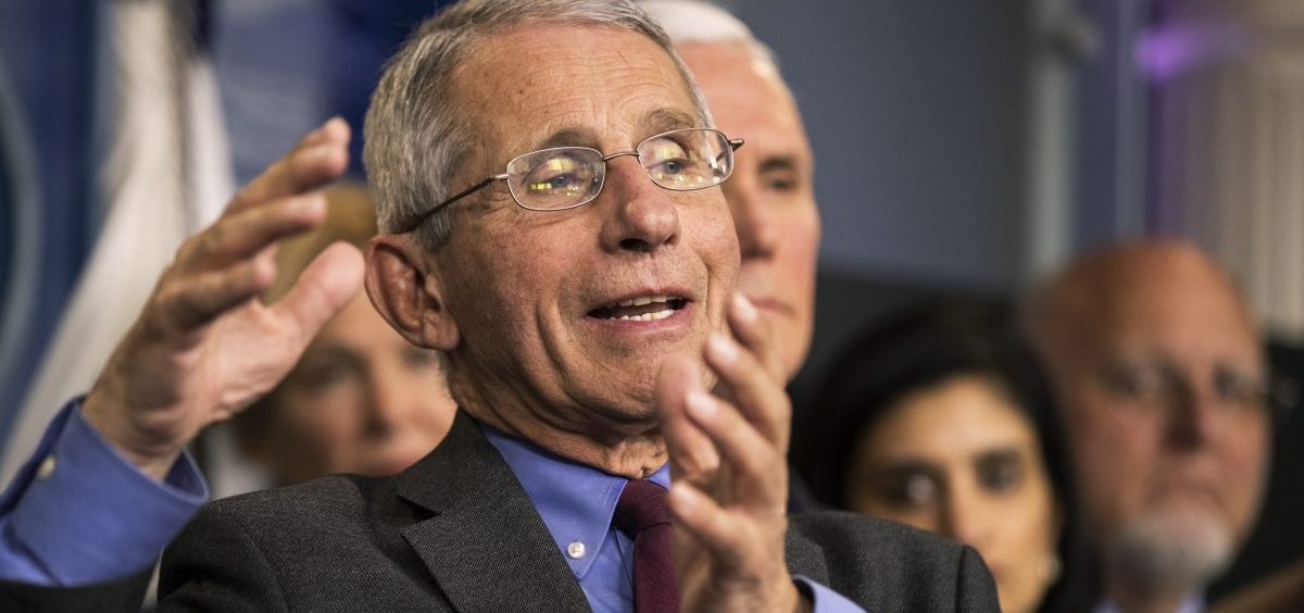Director of the National Institute of Allergy and Infectious Diseases at the National Institutes of Health Anthony Fauci