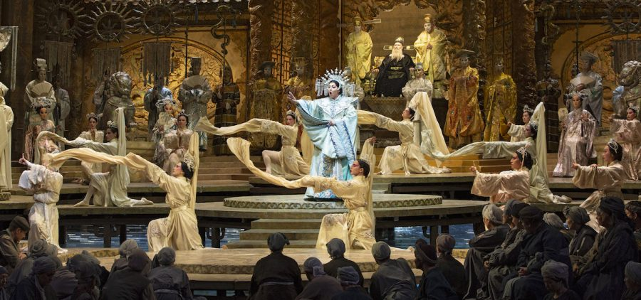 """Christine Goerke in the title role of Puccini's """"Turandot."""" Photo: Marty Sohl / Met Opera"""