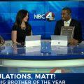 Matt Barnes on NBC 4 set