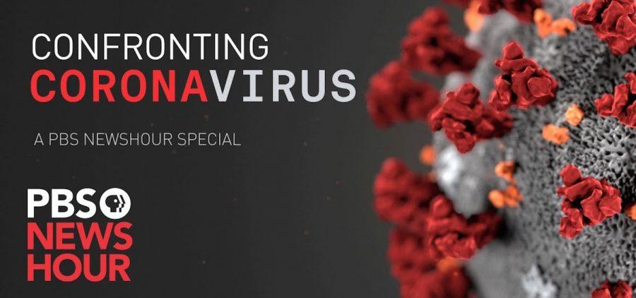 PBS Newshour Confronting Coronavirus graphic