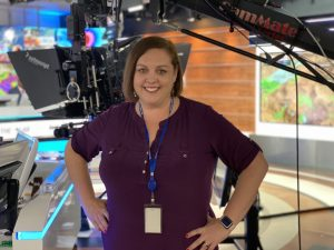 Angie Massie in Weather Channel studios