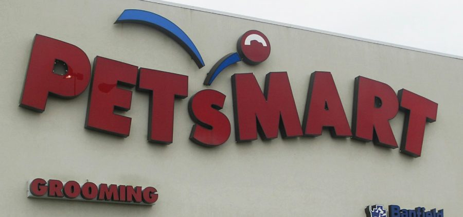 FILE - This May 24, 2005, file photo shows a sign of a pet store chain, PetSmart, in Warwick, R.I.