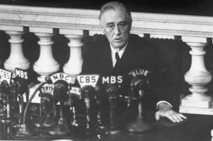 President Roosevelt reports to Congress