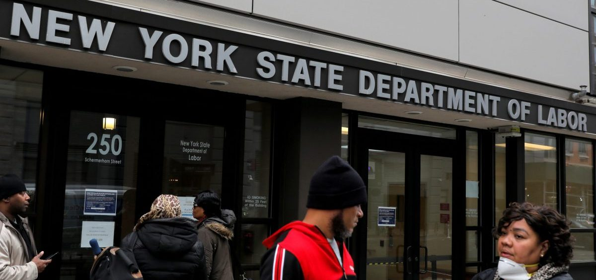 Claims for unemployment benefits are spiking across the country as businesses shut down to stem the spread of the coronavirus.