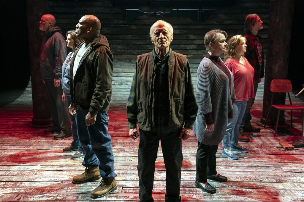 """The cast in rehearsal for """"Coal Country."""""""
