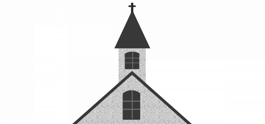 An illustration of a church