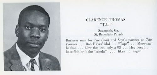 Clarence Thomas' yearbook photo, 1967.