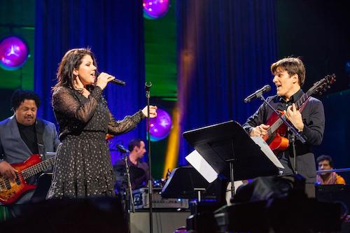Duet during Jazz festival