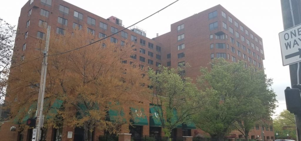 Treyton Oak Towers, a senior living facility in Louisville where at least nine residents have died from coronavirus.