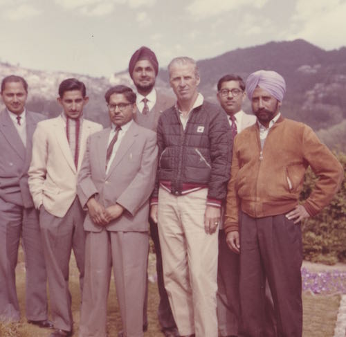 Group of men posing for portrait. Could be India or Nepal.