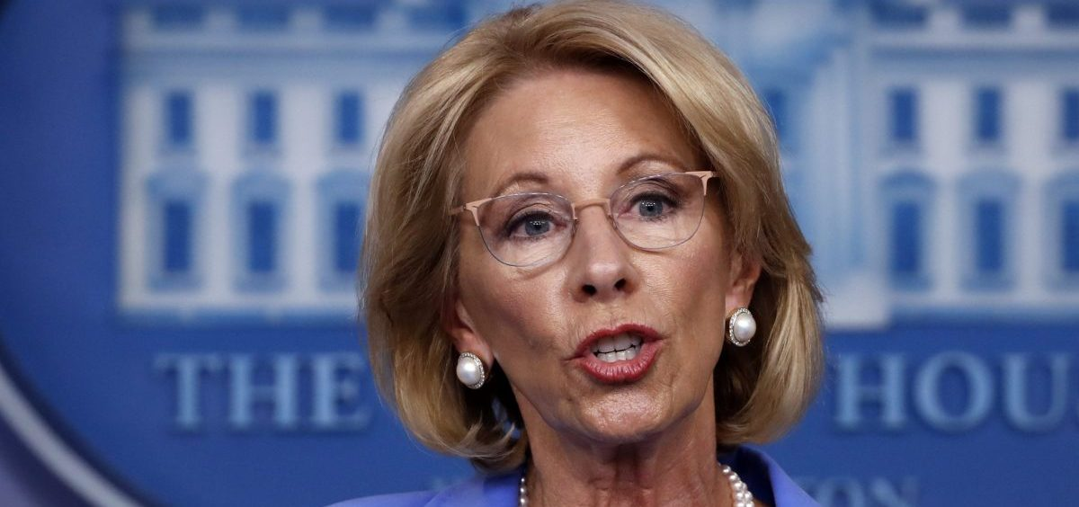 """Education Secretary Betsy DeVos says there is """"no reason"""" to waive main parts of the federal special education law."""