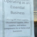Sign on door of Columbus area Hobby Lobby Tuesday
