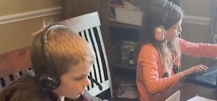 Children study online