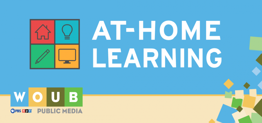 WOUB At Home Learning Graphic